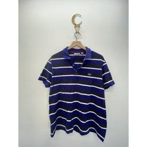 Lacoste Short Sleeve Striped Polo Shirt Size XXL